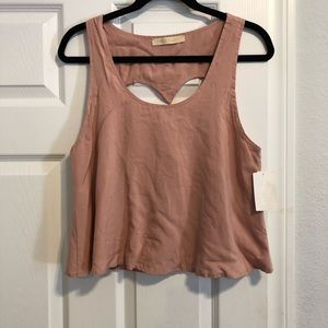 BP tank top with heart cutout back